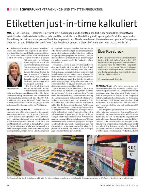 Titelblatt Rosebrock Deutscher Drucker