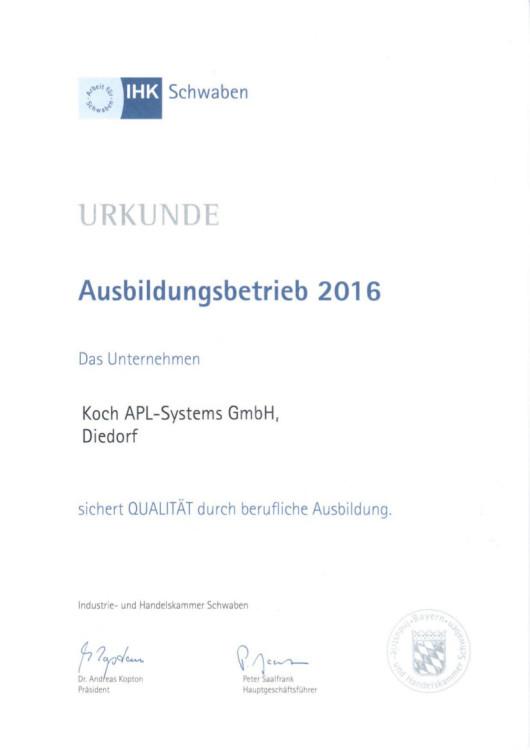 Ausbildung 2016